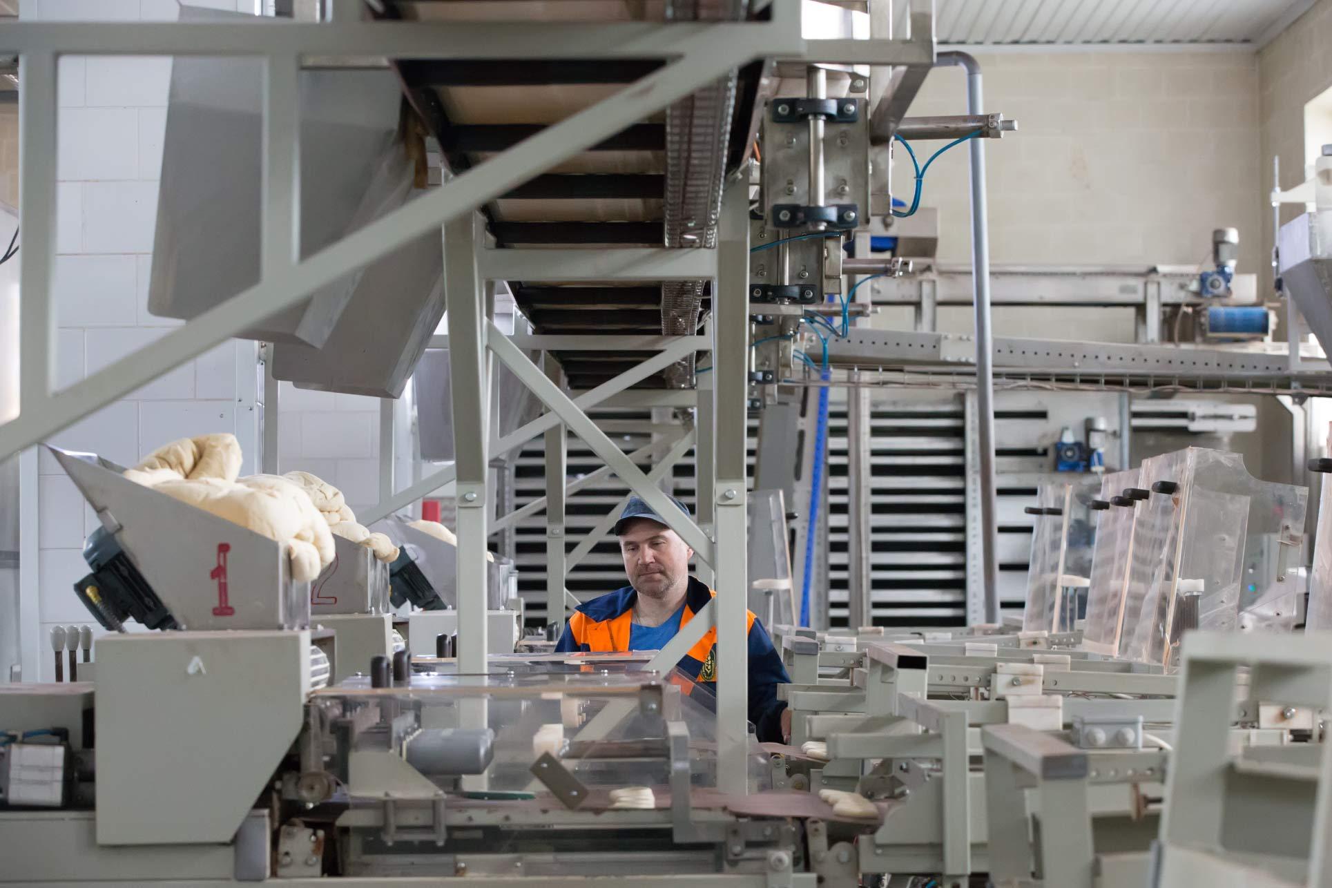 Linha de produção de pão